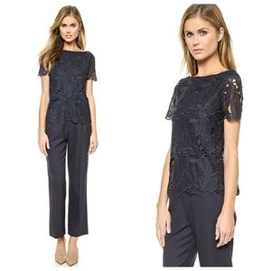 Tory Burch Avalon Jumpsuit in Medium Navy
